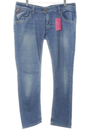 Freesoul Slim Jeans blau Washed-Optik