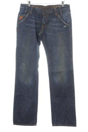 Freesoul Straight-Leg Jeans blau Farbverlauf Casual-Look