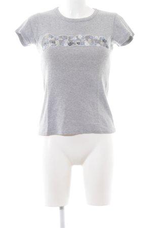 Freesoul T-Shirt hellgrau meliert Casual-Look