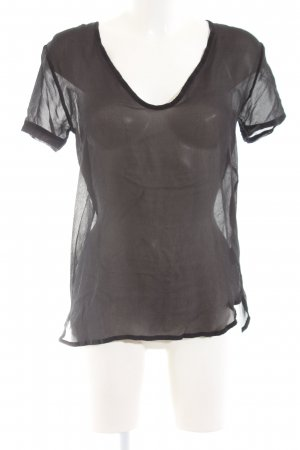 Freesoul Transparenz-Bluse schwarz schlichter Stil