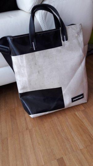 Freitag Borsa shopper bianco sporco-nero
