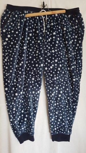 Ulla Popken Sweat Pants white-dark blue