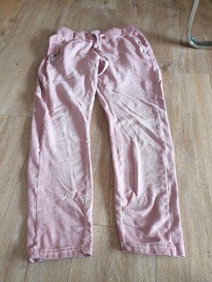 Amisu Sportbroek wit-stoffig roze