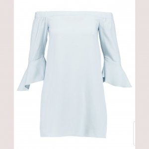 Missguided Off the shoulder jurk azuur