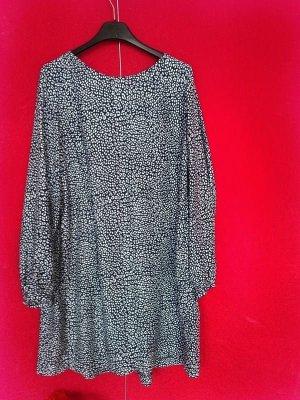 Pull & Bear Vestido de tela de sudadera blanco-azul