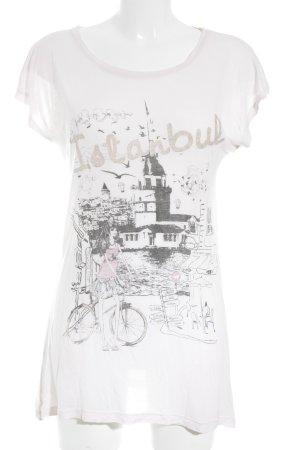 FREKANS T-Shirt altrosa-rosé Motivdruck Casual-Look