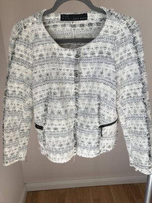 Zara Short Jacket natural white-silver-colored