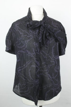 French Connection Bluse Gr. UK 10 / dt 38 schwarz lila