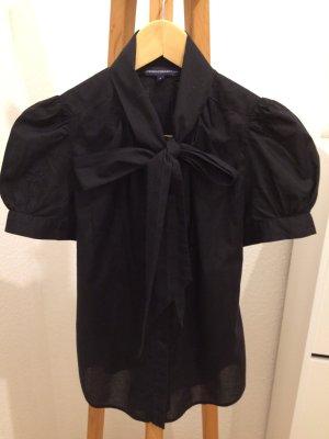 French Connection Bluse mit Schleife schwarz Größe 36