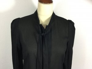 French Connection Blusa collo a cravatta nero Poliestere