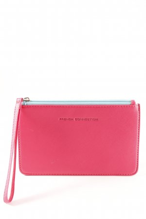 French Connection Clutch magenta-türkis Colourblocking minimalistischer Stil