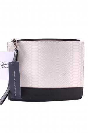 French Connection Clutch schwarz-creme Elegant