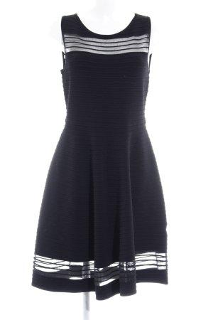 French Connection Cocktailkleid schwarz Streifenmuster minimalistischer Stil