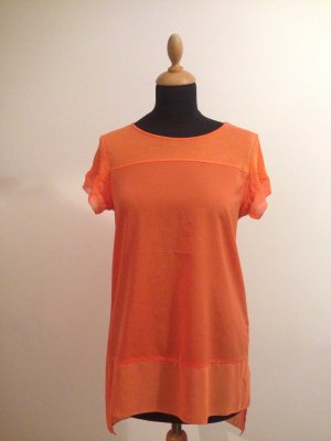 French Connection corall orange lobster farbe Top  Shirt transparent Sommer
