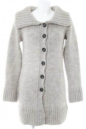 French Connection Coarse Knitted Jacket beige flecked casual look