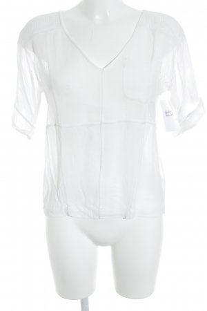 French Connection Blusa-camisa blanco look casual