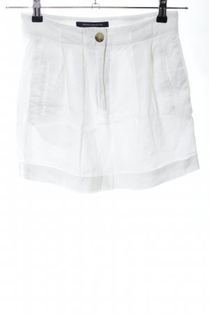French Connection High-Waist-Shorts weiß Casual-Look