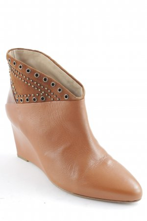 French Connection Keil-Stiefeletten cognac extravaganter Stil