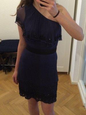 French Connection Kleid blau handbestickt Größe XS NEU
