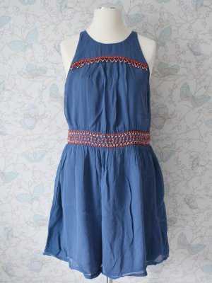 "FRENCH CONNECTION Kleid ""Blue Nebraska Beads"" in Blau Gr. 16 NEU"