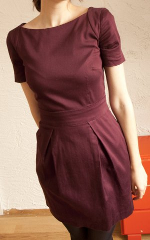 French Connection Kleid in Oxblood XS