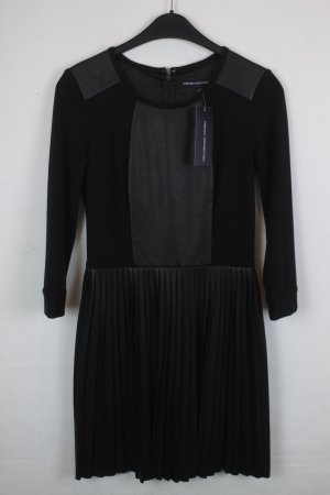 French Connection Kleid Lederkleid Gr. 36 schwarz NEU mit Etikett (18/4/337)