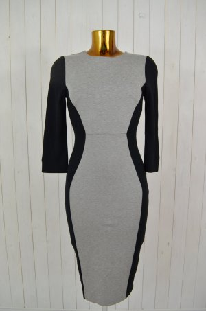 FRENCH CONNECTION Kleid Stretchkleid Cocktailkleid Schwarz Grau Stretch UK12/M
