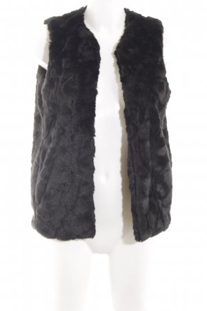French Connection Fake Fur Vest black extravagant style