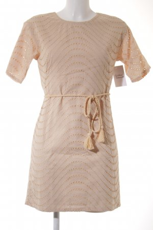 French Connection Kurzarmkleid creme Casual-Look