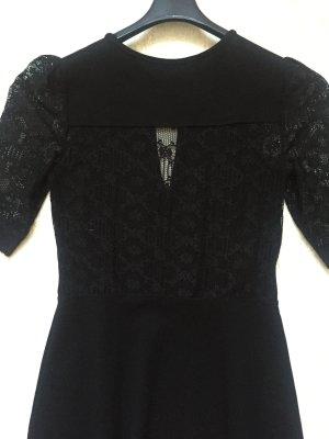 French Connection - Kurzes Kleid mit sexy Rücken & Puffärmeln aus Spitze