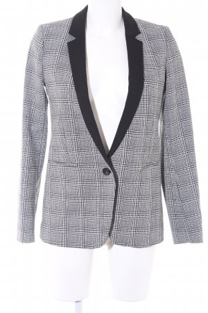 French Connection Long-Blazer schwarz-weiß Glencheckmuster 20ies-Stil