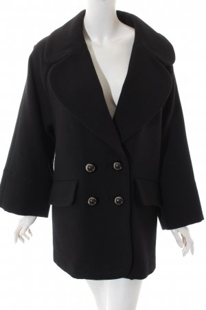 French Connection Manteau oversized noir style décontracté
