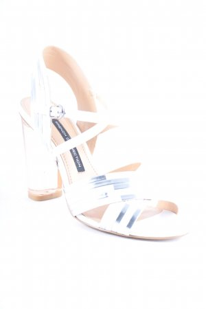 French Connection Strapped High-Heeled Sandals white-silver-colored