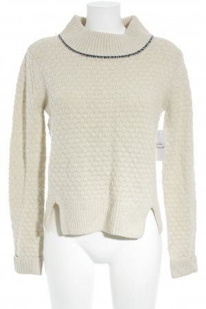 French Connection Rollkragenpullover creme-blau Casual-Look