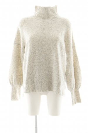 French Connection Turtleneck Sweater cream-light grey flecked casual look