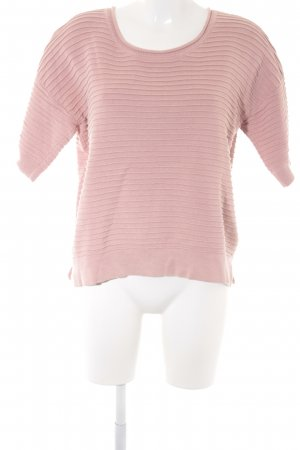 French Connection Rundhalspullover rosa Streifenmuster Casual-Look