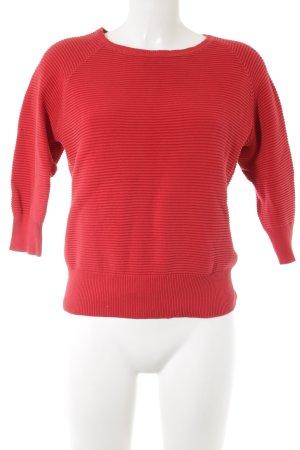 French Connection Maglione girocollo rosso mattone stile casual