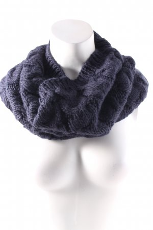 French Connection Snood dark blue herringbone pattern fluffy