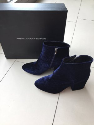 French Connection Samt Ankle Boot Navy