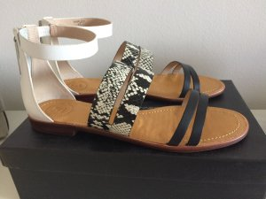 French Connection Roman Sandals white-black leather