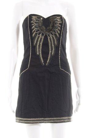 French Connection schulterfreies Kleid schwarz extravaganter Stil