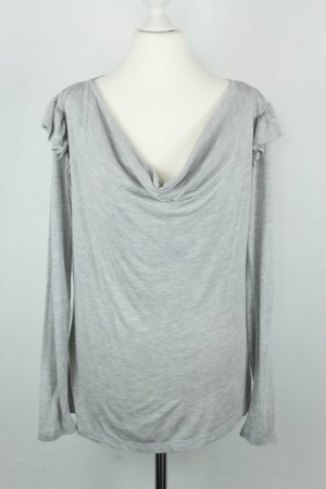 French Connection Cowl-Neck Shirt light grey