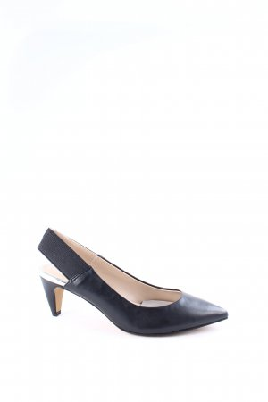 French Connection Slingback-Pumps schwarz klassischer Stil