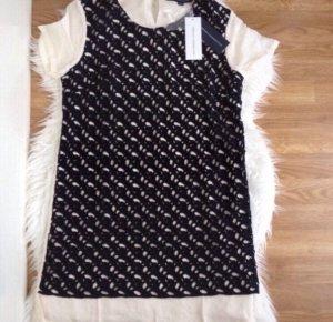 French Connection Sommer Kleid Schwarz Loch Spitze Creme Gr 36 S Dress Neu