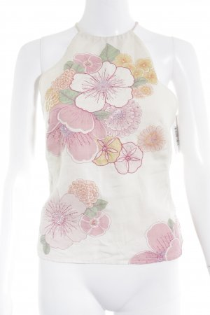 French Connection Spaghettiträger Top creme-rosa Blumenmuster Casual-Look