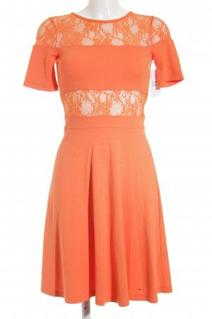 French Connection Spitzenkleid orange Romantik-Look