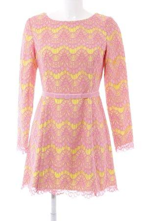 French Connection Spitzenkleid pink-neongelb Elegant