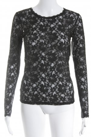French Connection Top di merletto nero stile casual