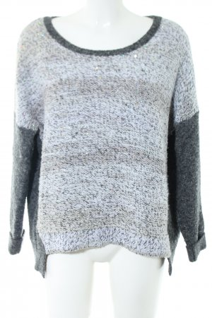 French Connection Strickpullover hellgrau meliert Casual-Look