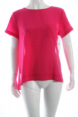 French Connection T-Shirt magenta Materialmix-Look